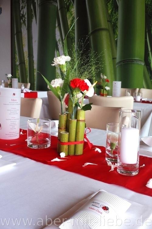 Bilder von dekos und floristik aber mit liebe - Tischdeko bambus ...